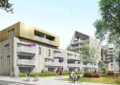 2013 – Strasbourg – 38 Logements Ilot bois