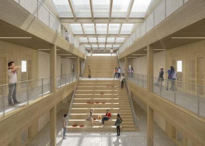 2021 – Aigle – Lycée, restauration scolaire et gymnase